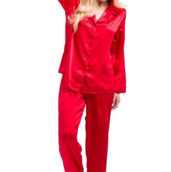 Cabernet Intimates Sleepwear Luxe Satin Pajamas Lounge Set Xl 1x
